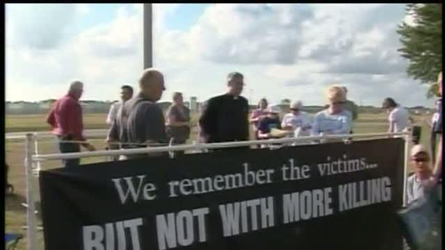 Some gather to protest death penalty