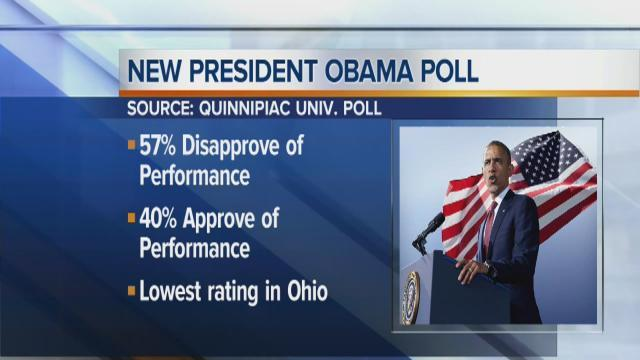 Live on 5 Obama's approval rate lowest ever in Ohio