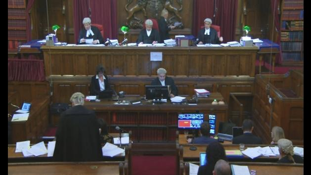 First footage to be broadcast from the Court of Appeal