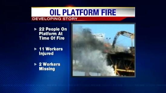 Fire out at Gulf oil platform; 11 hurt, 2 missing