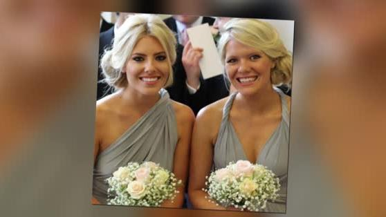 Mollie King Dazzles on Bridesmaid Duty For Her Sister