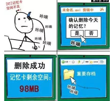 暴走漫畫公司以四格漫畫起家,圖為王尼瑪以機器人和小女孩友誼為主軸的《7723》系列。(翻攝自ciweigongshe.net)