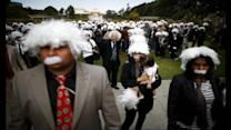 Relative success! Einstein lookalikes set world record