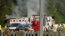 Raw: Deadly Tennessee Bus Crash