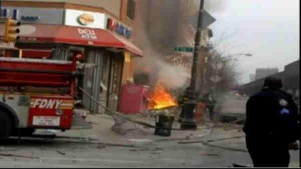 Viewer video from East Harlem explosion site
