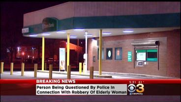 Person Being Questioned By Police In Connection With Robbery of Elderly Woman