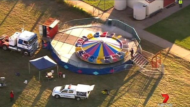 Child critical after carnival ride fall