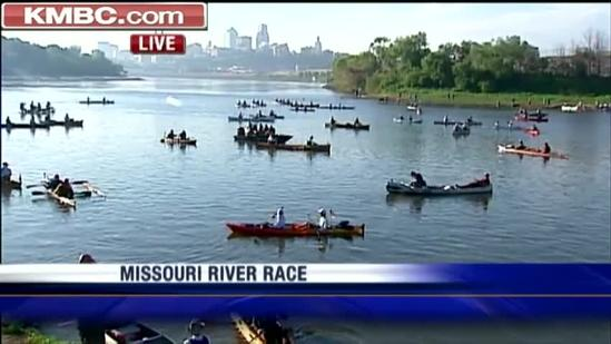Missouri River race under way