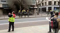 Large fire in Holborn, London, UK