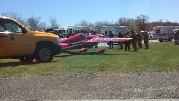 Small plane makes emergency landing on highway