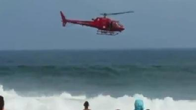 Helicopter Crashes On Brazilian Beach