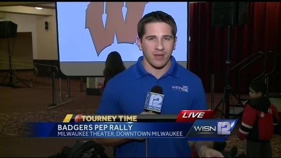 Pep rally for Badger fans Wednesday night at Milwaukee Theatre