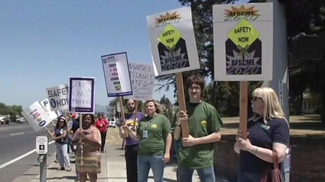 Workers rally for better safety measures at Napa State Hospital