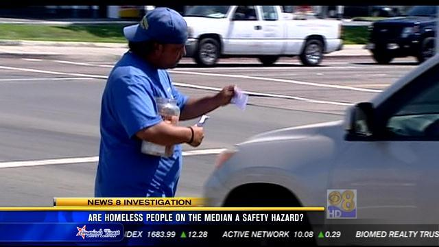 Are homeless people on the median a safety hazard?
