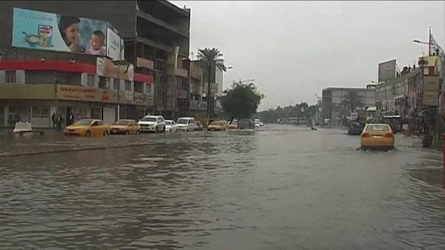 At least 11 dead in flooded Iraq