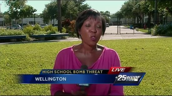 Bomb threat prompts backpack ban at Wellington High School
