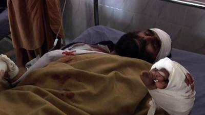Raw: Suicide Bombers Kill 5 in Pakistan