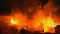Minnesota Fire Engulfs Home, Two Garages