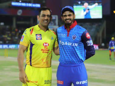 MS Dhoni (L) captain of Chennai Super Kings (CSK) and Shreyas Iyer captain of Delhi Capitals (DC). Sportzpics