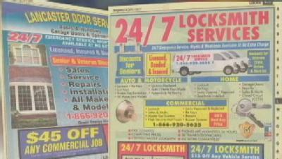 Phone Book Garage Door Ads Mimic Local Company