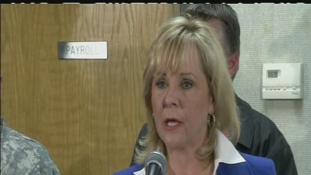 Governor Fallin during Tuesday press conference