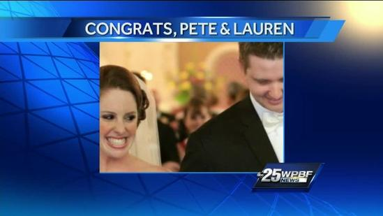 WPBF.com editor Pete Burke ties the knot