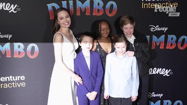 Angelina Jolie S Kids Join Her On Red Carpet For The