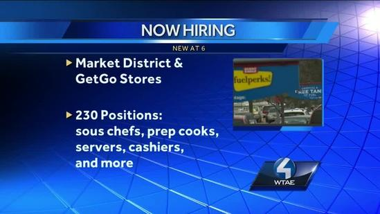 Giant Eagle hiring for 230 GetGo, Market District Express positions