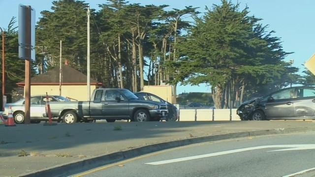 Raw Video: Driver Making Illegal Turn At Golden Gate Bridge Crashes With Another Vehicle