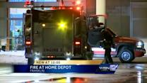 Fire forces evacuation at Home Depot
