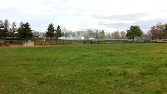 Raw video: 10 horses killed in Oldham barn fire