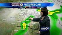 Storms pushing off; Sunday looking soggy