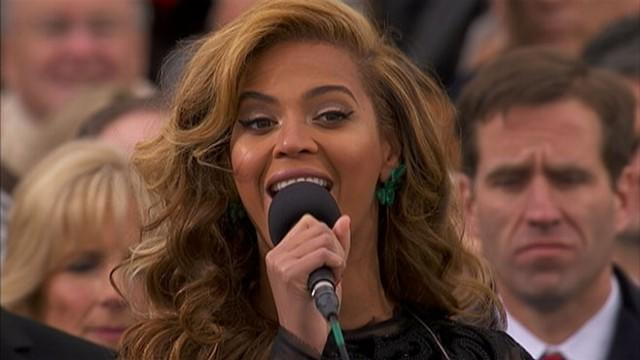 Beyonce Sings National Anthem at Inaugural Ceremony