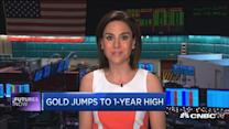 Futures Now: Gold jumps to 1 year high