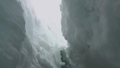 Raw: US Man Survives Fall in Nepal Crevasse