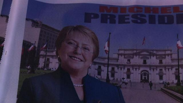 Supporters celebrate Bachelet win in Chile