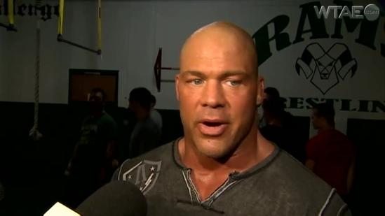 Kurt Angle brings 'Save Olympic Wrestling' campaign to Pine-Richland