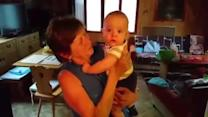 Baby Tries to Eat Grandmother's Face