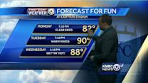 Summer settles in with warm, dry days