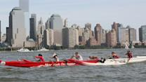 Racing Canoes in the Hudson