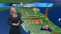 Partly cloudy, hot on Tuesday