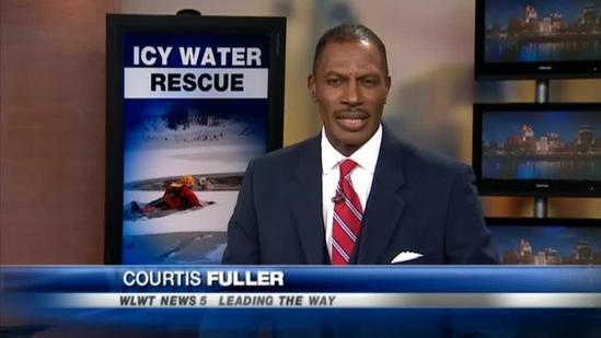 Owner thought dog gave up after fall into icy pond