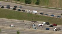 Two accidents close northbound lanes of Lodge in Detroit