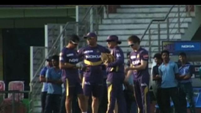 Kolkata Knight Riders in practice session