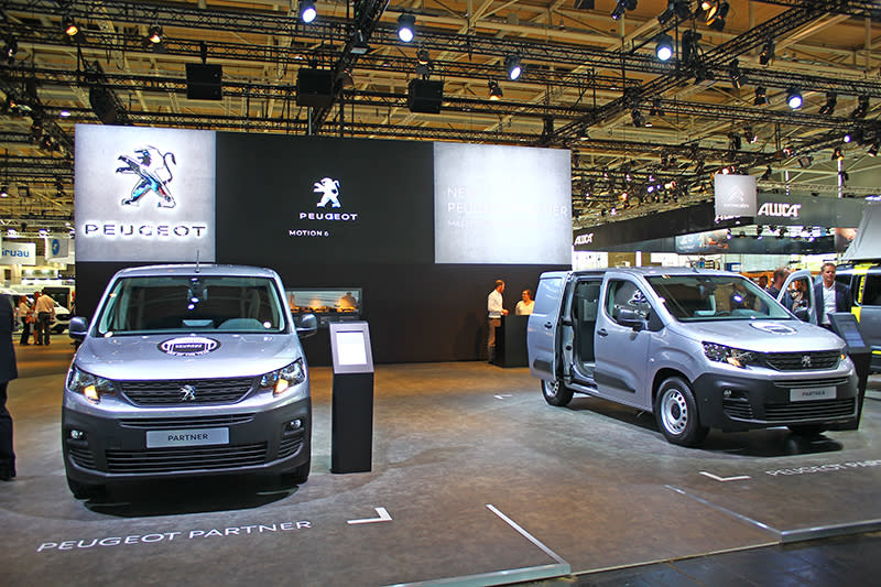 Peugeot展區的的主秀是才剛發表的小貨車Partner。