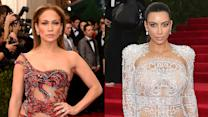 Jennifer Lopez vs Kim Kardashian SHEER Dresses at Met Gala 2015