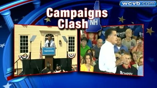 Romney campaigns in New Hampshire