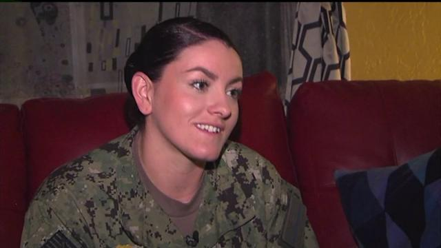 Mystery Couple Surprises Navy Veteran
