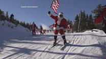 Hundreds of Santas Hit the Slopes for Charity