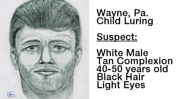 Sketch released in Wayne, Pa. child luring